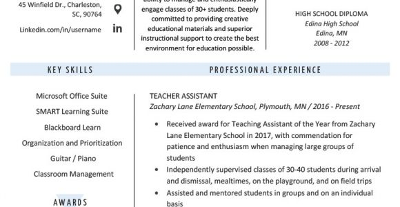 Teacher assistant Resume Sample Teacher assistant Resume Sample Writing Tips Resume Genius