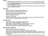 Teacher Job Application Resume 10 Cv formats Samples for Teachers theorynpractice