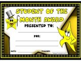 Teacher Of the Month Certificate Template Achievement Award Certificates Free Printable Template