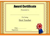 Teacher Of the Month Certificate Template Certificate Of Best Teacher 8 Ss Jpg Best 10 Templates