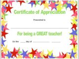 Teacher Of the Month Certificate Template Free Teacher Appreciation Certificates Download Word and
