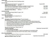 Teacher Resume Template Word 10 Sample Teacher Resume Templates to Download Sample