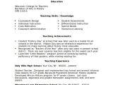 Teacher Resume Template Word Sample Resume 8 Examples In Word