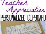 Teacher Thank You Card Ideas Personalized Teacher Gift Clipboards Teacher Appreciation