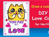 Teachers Day Card by Rachna Handmade I Love You Greeting Cards for Him Her Draw A Cute