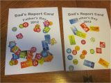 Teachers Day Card for Nursery Father S Day Report Card 1 Craft with Images Fathers