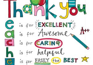 Teachers Day Card for Principal Rachel Ellen Designs Teacher Thank You Card with Images