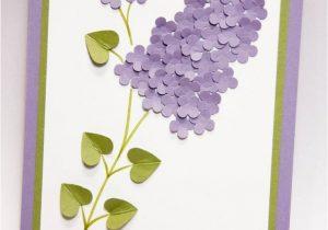 Teachers Day Card Handmade Ideas Muttertag Oder Flieder Flieder Karten Teachersdaycard with