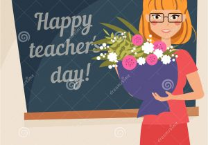Teachers Day Card Happy Teachers Day Card Happy Teachers Day Card Stock Vector Illustration Of