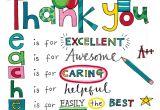 Teachers Day Card Ideas for Kindergarten Rachel Ellen Designs Teacher Thank You Card with Images