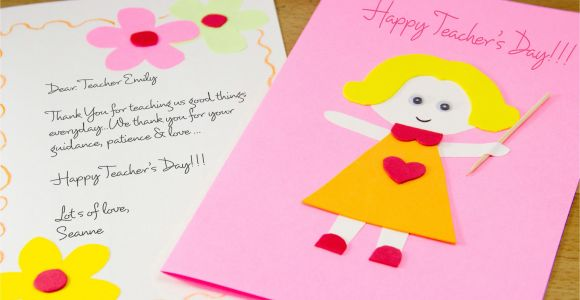 Teachers Day Card Making Ideas Simple How to Make A Homemade Teacher S Day Card 7 Steps with