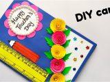 Teachers Day Card Making Youtube Diy Teacher S Day Card Handmade Teacher S Day Card Easy