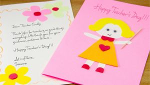 Teachers Day Card On White Paper How to Make A Homemade Teacher S Day Card 7 Steps with