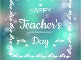 Teachers Day Card Red Colour Greeting Card for Happy Teachers Day Abstract Background
