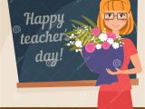 Teachers Day Card Red Colour Happy Teachers Day Card Stock Vector Illustration Of