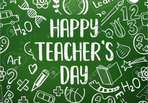 Teachers Day Card Vector Free Download Happy Teacher S Day Greeting On School Realistic Green Chalkboard