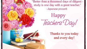 Teachers Day Card with Flower for Our Teachers In Heaven Happy Teacher Appreciation Day