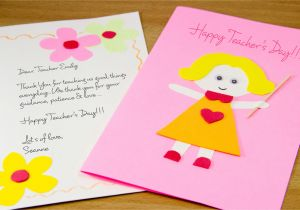 Teachers Day Handmade Greeting Card How to Make A Homemade Teacher S Day Card 7 Steps with