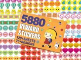 Teachers Day Heart Shape Card Horiechaly 5880 Kids Reward Stickers Incentive Stickers for Teachers 12 Pack 120 Sheets In total Over 70 Unique Designs Including Heart Face Star
