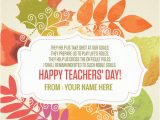 Teachers Day Invitation Card Writing 5th September Teachers Day Quotes Name