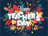 Teachers Day Invitation Card Writing Happy Teacher S Day Layout Design with Volume Paper