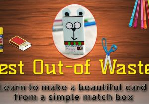 Teachers Day Ke Upar Card How to Make A Greeting Card From Waste Material