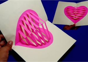 Teachers Day Pop Up Card How to Make Heart Pop Up Card Making Valentine S Day Pop