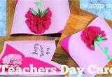 Teachers Day Pop Up Greeting Card Diy Beautiful Teacher S Day Card In 2020 Teachers Day Card