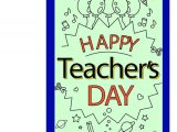 Teachers Day Simple Greeting Card Happy Teacher Day Greeting Card