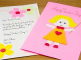 Teachers Day Simple Greeting Card How to Make A Homemade Teacher S Day Card 7 Steps with