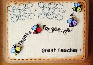 Teachers Day Thank You Card M203 Thanks for Bee Ing A Great Teacher with Images