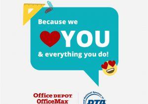 Teachers Day Thank You Card Teacher Appreciation Week events National Pta