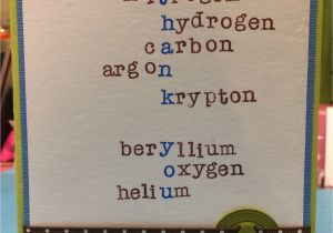Teachers Day Thank You Card Thank You for Chemistry Teacher Card Teacher Birthday Card