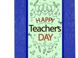 Teachers Day Wish Greeting Card Happy Teacher Day Quotation Frame