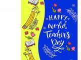 Teachers Day Wish Greeting Card Happy World S Teacher Day Greeting Card
