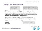 Teaser Email Templates Cold Emailing Templates for Prospecting