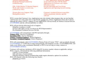 Tech Support Contract Template software Support Agreement Template Free Printable Documents