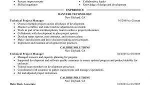 Technical Project Manager Resume Sample Best Technical Project Manager Resume Example Livecareer
