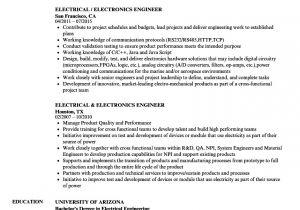 Technical Skills for Electrical Engineer Resume Electrical Engineer Electronics Engineer Resume Velvet