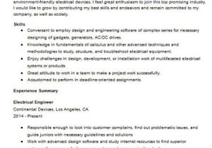 Technical Skills for Electrical Engineer Resume Electrical Engineer Resume Sample