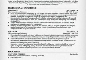 Technical Skills for Electrical Engineer Resume Electrical Engineer Resume Sample Resume Genius