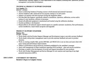 Technical Support Engineer Resume Doc Product Support Engineer Resume Samples Velvet Jobs