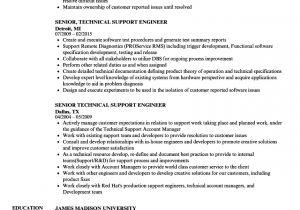 Technical Support Engineer Resume Doc Senior Technical Support Engineer Resume Samples Velvet Jobs