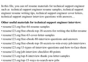 Technical Support Engineer Resume Doc top 8 Technical Support Engineer Resume Samples