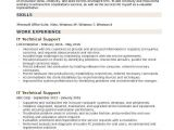 Technical Support Fresher Resume format It Technical Support Resume Samples Qwikresume