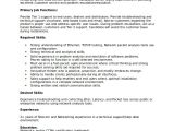 Technical Support Fresher Resume format Technical Resume Template 6 Free Word Pdf Document