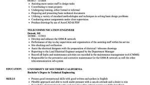 Telecom Engineer Resume Telecommunication Engineer Resume Samples Velvet Jobs