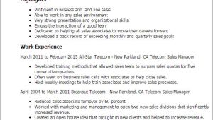 Telecom Sales Executive Resume Sample Professional Telecom Sales Manager Templates to Showcase