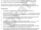 Temp to Perm Contract Template Employment Contract Template Free Contract Of Employment