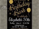 Template for 50th Birthday Invitations Free Printable Printable Birthday Invitations Black Gold Glitter 20 21 30th